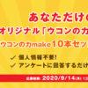 [100名当選]第1弾!オリジナル「ウコンの力」が作れる! 「ウコンの力make10本セット」プレゼント