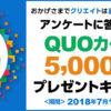 [50名様当選]5,000円分のクオカードが当たる!クリエイト50周年企画 5,000
